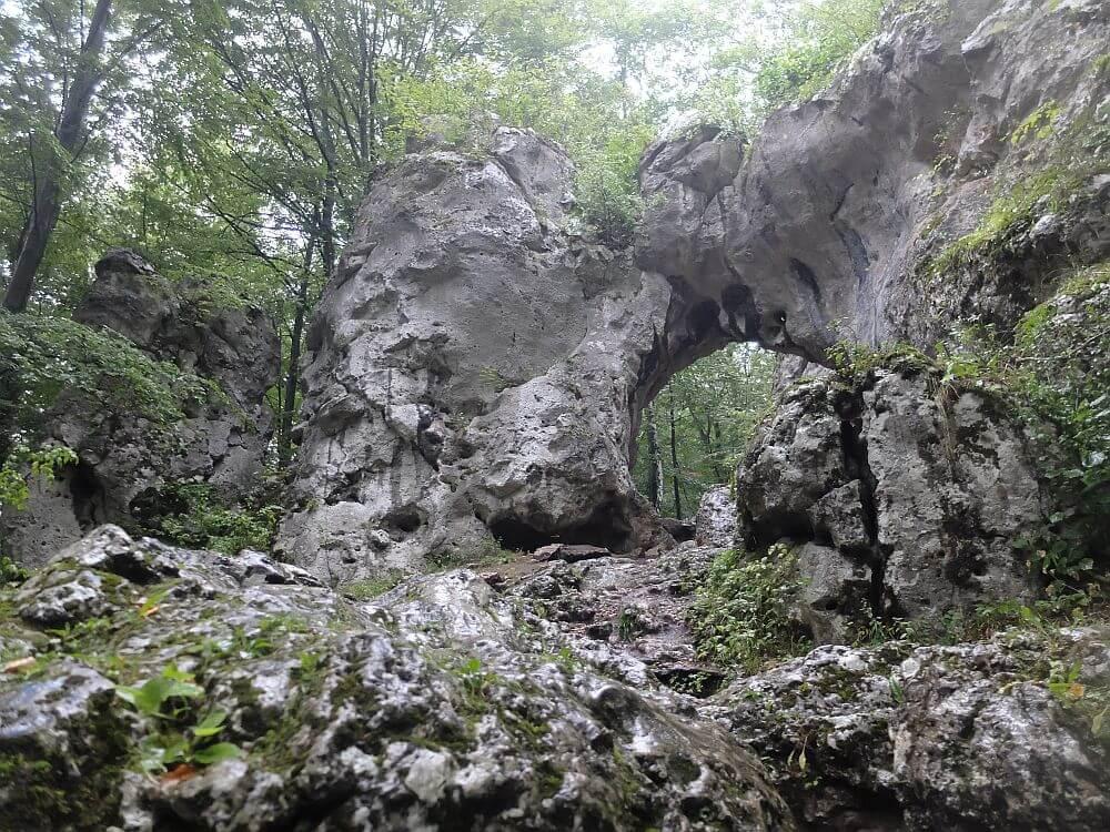 Skała Brama Twardowskiego w Złotym Potoku
