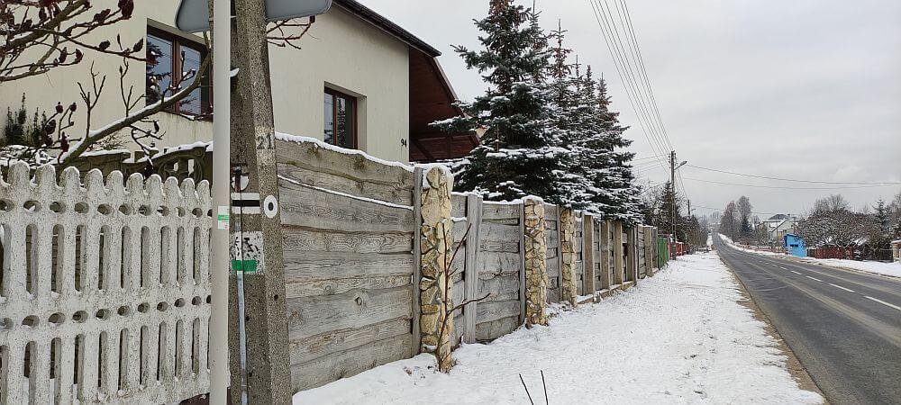 Koniec szlaku Kroczyckiego w Rzędkowicach